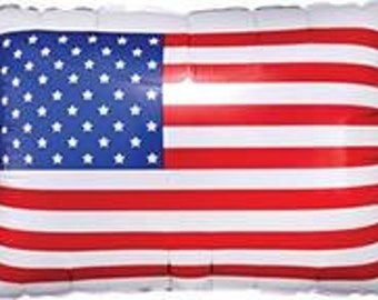 """24""""  patriotic flag balloon. Memorial Day decor. 4th of july party. Summer Party. Number balloons. USA balloons. Olympics. Patriotic"""