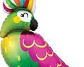 "Parrot balloon 30"". tropical party. final flamingle. tropical balloon. tropical party. luau decor. luau balloon. parrot party decor. parrot"