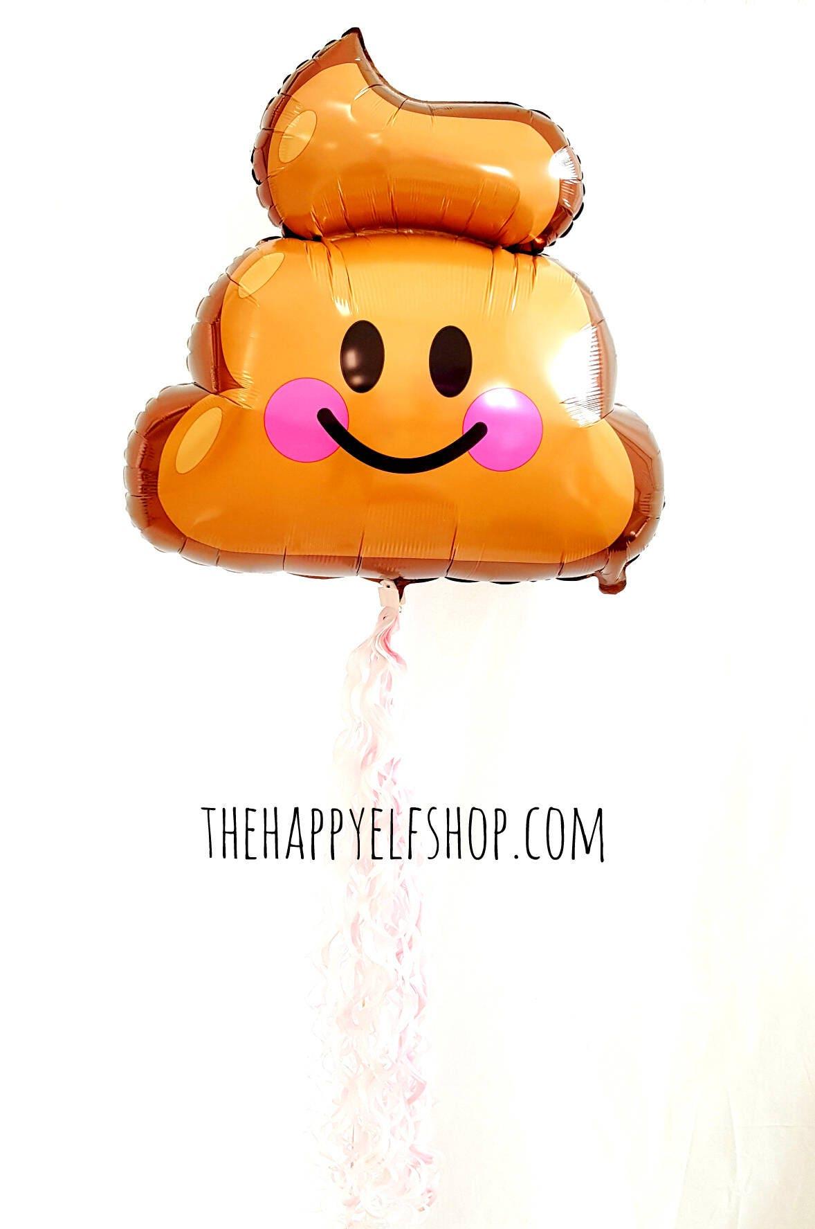 25 Poop Emoji Balloon Balloons Old Fart Kids Party Pooper