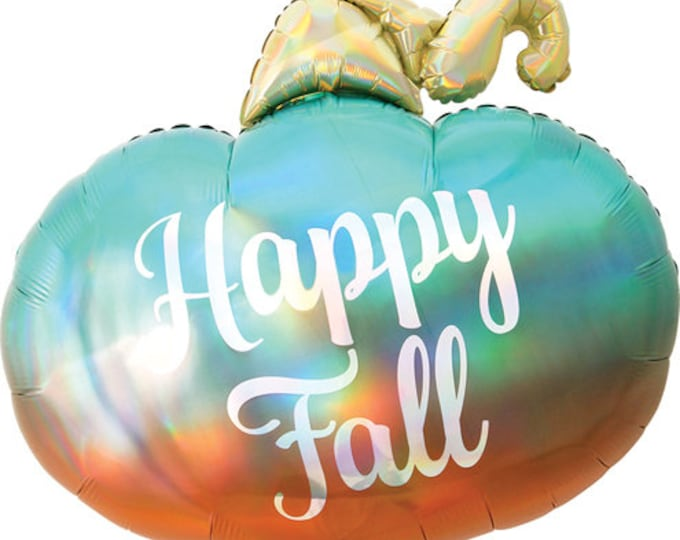 """Featured listing image: 29"""" Ombre Pumpkin balloon. hello fall pumpkin balloon. pumpkin party balloon. pumpkin party decor. little pumpkin decor. pumpkin"""