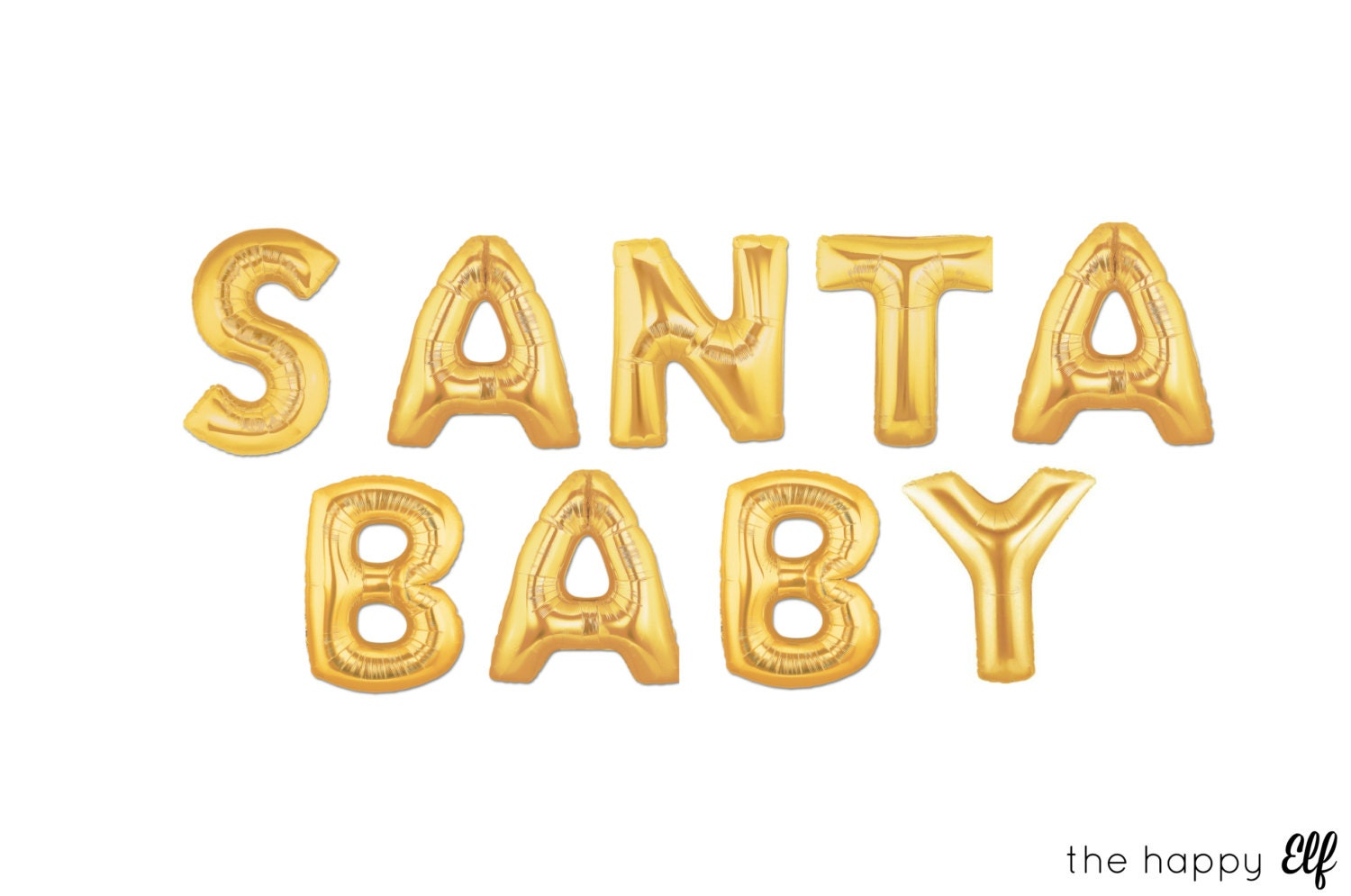 16 Gold SANTA BABY balloons/banner. Christmas party. Christmas decor ...