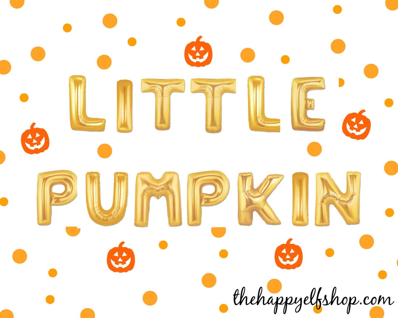 16 little pumpkin balloon/banner. halloween balloons. pumpkin
