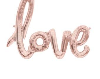 """Script amour ballon 40"""" en or Rose. Ballons d'amour d'or. Ballon Jumbo love. Décoration de mariage. Décor de douche nuptiale. Fête de fiançailles. Anniversaire"""