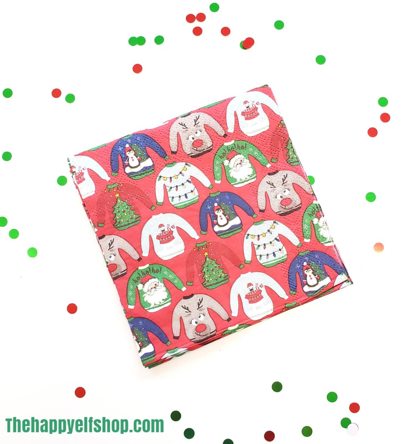 Ugly Sweater Napkins Ugly Sweater Party Ugly Sweater Party