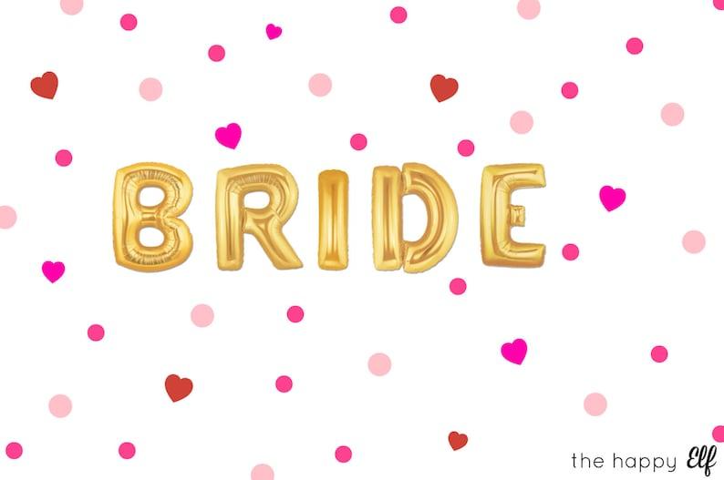 Wedding party. Bride balloons Bridal shower Girls night Engagement party Hen party 16 BRIDE balloonsbanner Bachelorette party