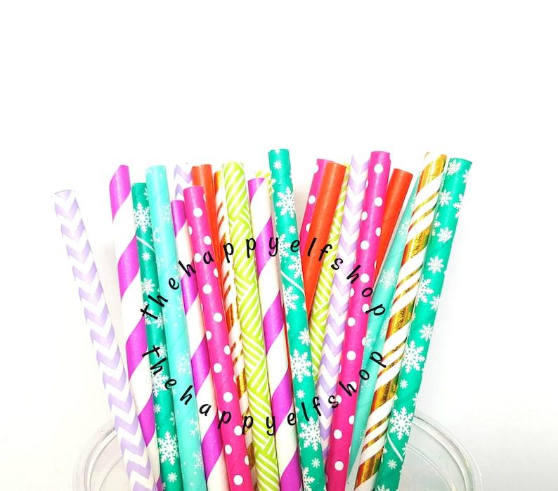 tree straws bright straws Bright Christmas straw variety christmas party Christmas straws santa straws snowflake straws gold straws