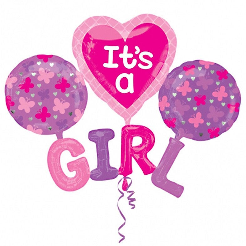 It's a girl Balloon. baby girl shower party. Gender reveal ...