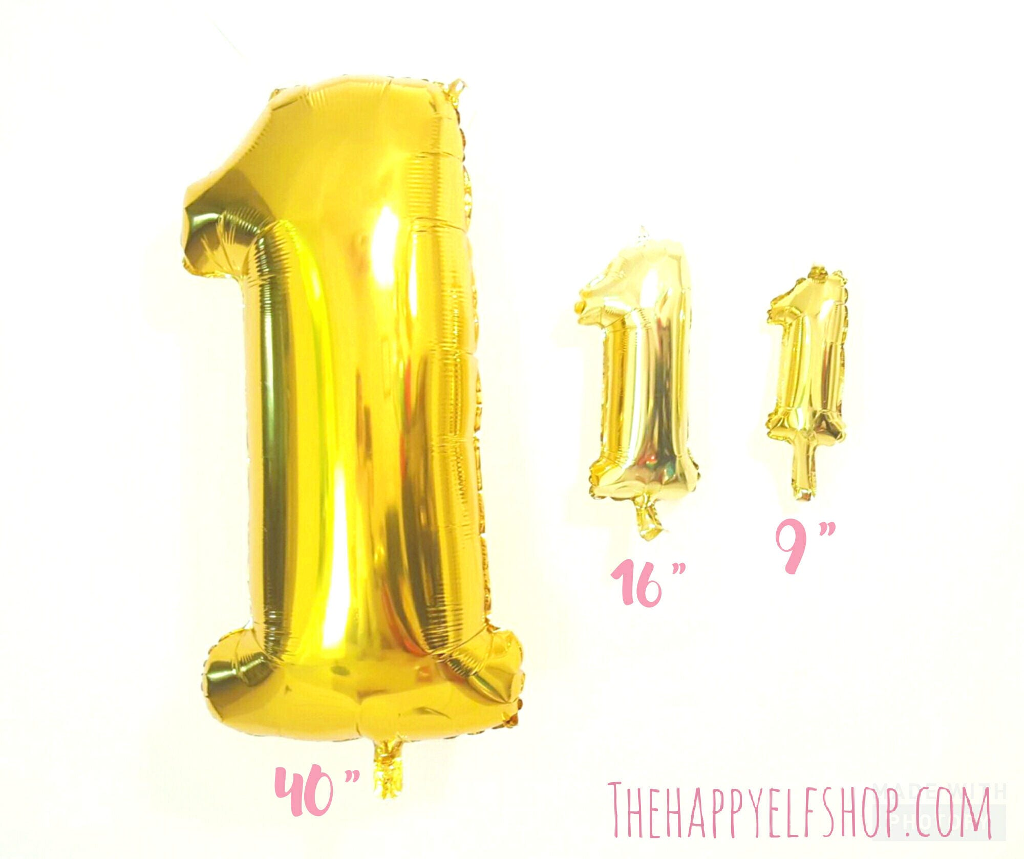 40 Gold Number 1 Balloon Balloons Baloon First Birthday Jumbo One