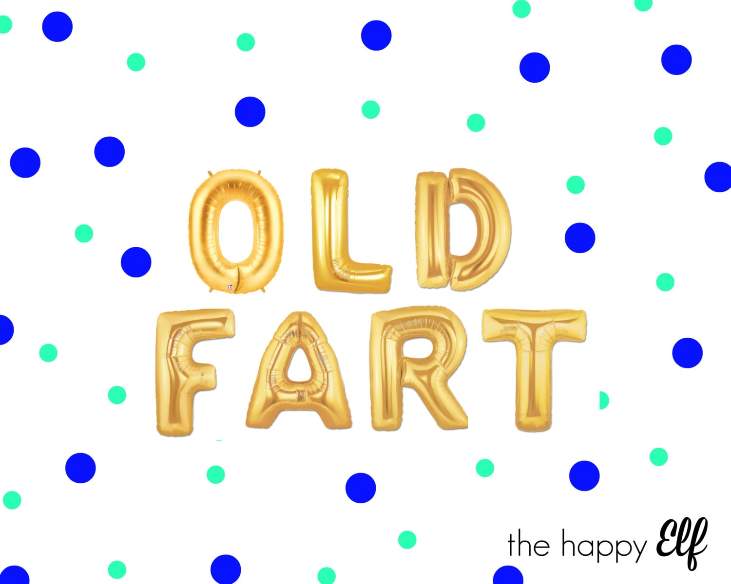 16 OLD FART Balloons Banner Old Fart Over The Hill Dirty 30 60th Birthday Party Decor As F