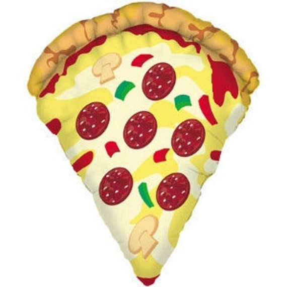 huge 38 pizza slice balloon pizza lover pizza party etsy