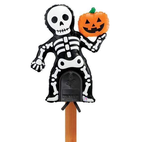 Skeleton Mailbox Balloon Halloween Decor Skeleton Balloons