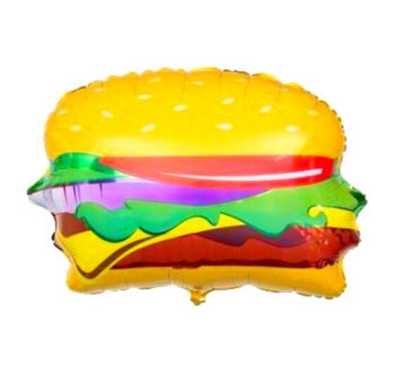 Hamburger Shaped 28 Inch Foil Balloon