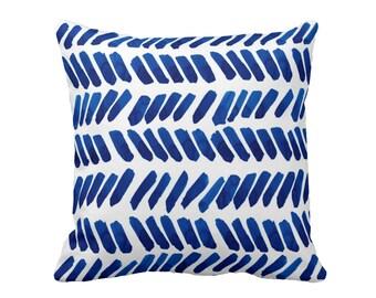 Watercolor Pillow, Boho, Navy Pillow, Dots, Blue Decorative Pillow, Indigo Blue Throw Cushion, Art Pillow
