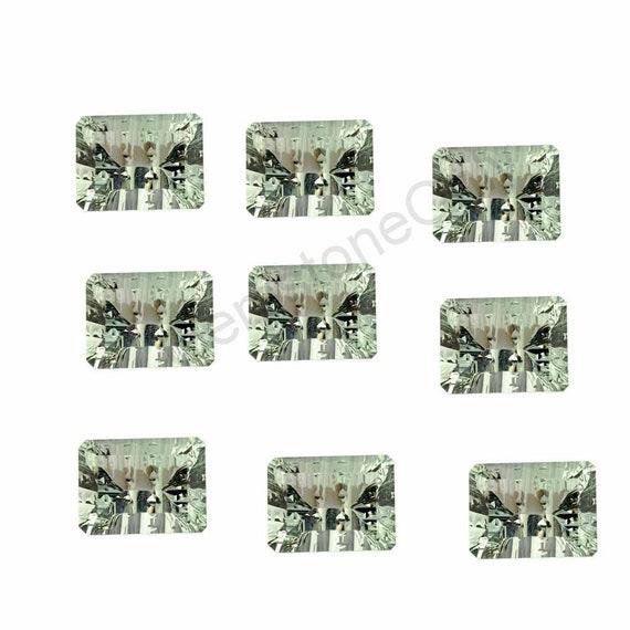 Améthyste vert naturel - 10mm Couleur Verte Coupe Concave - Forme Coussin - Vente par lot