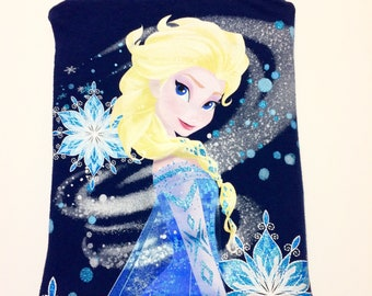 DISNEY Frozen T-Shirt Pouch. Disney Elsa T-shirt Pouch. Upcycled disney t-shirt bag.