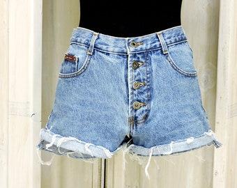 """Vintage 80s high waisted shorts / high waist cut offs / size 6 / 30"""" waist"""