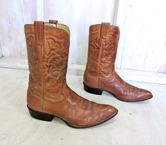 c40842e2b9220 Handmade cowboy boots 9.5 D mens   Vintage Sanders Mexico
