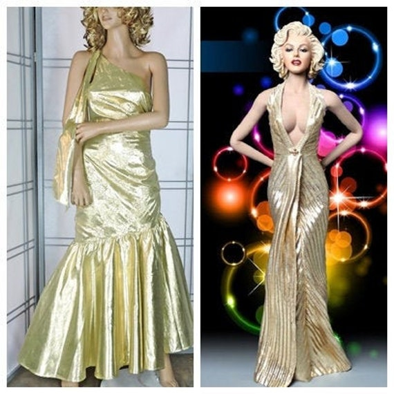 Glam 80s Party dress / Marilyn Monroe Prom Formal