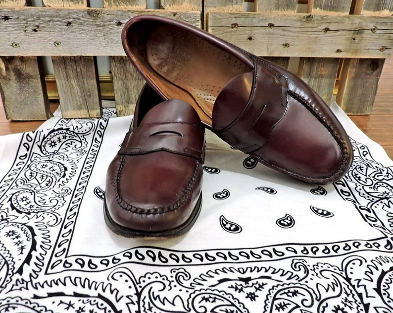 G H Bass Loafers Mens 10 D Vintage Weejuns Penny Loafers Etsy