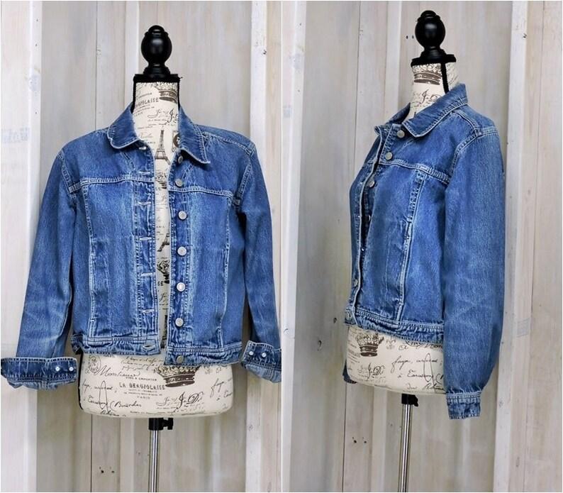 c2d30ee04db Vintage Denim jacket S M / 90s Van Heusen jean jacket / mens | Etsy