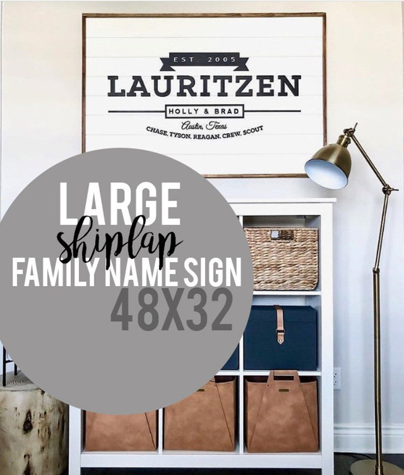 52621f7a3875a LARGE Last Name Sign,Family Name Established Sign,Shiplap Wood Sign,Est  Sign,Personalized Family last name custom sign,3D laser cut