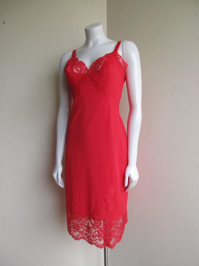 a56f24b56e1d7 Vintage 1950s Rogers slip dress / 50s lace applique bodice &   Etsy