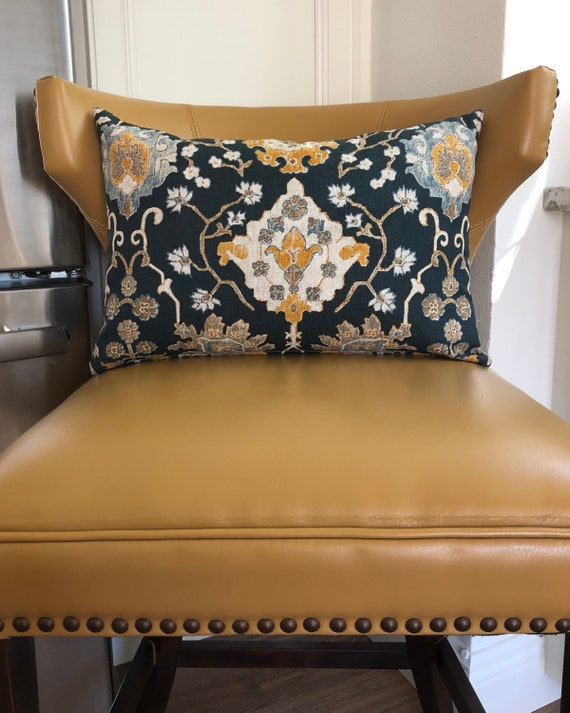 Navy Blue Decorative Throw Pillow | Etsy