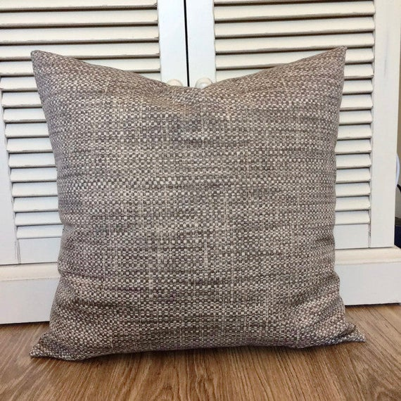 Coastal Pillows Gray Brown Pillow Indoor Outdoor Throw Pillow Etsy