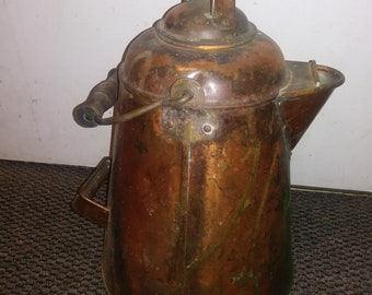 Early 1900s copper coffee pot antique