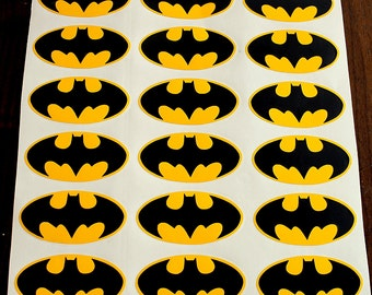 32 Batman Logo Vinyl Sticker Decal Wall Birthday Party Wallpaper Nursery Waterbottle