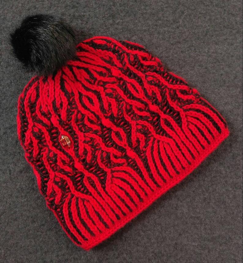 b3b68ce0574 Women s knit hat pattern hand knit brioche hat pattern
