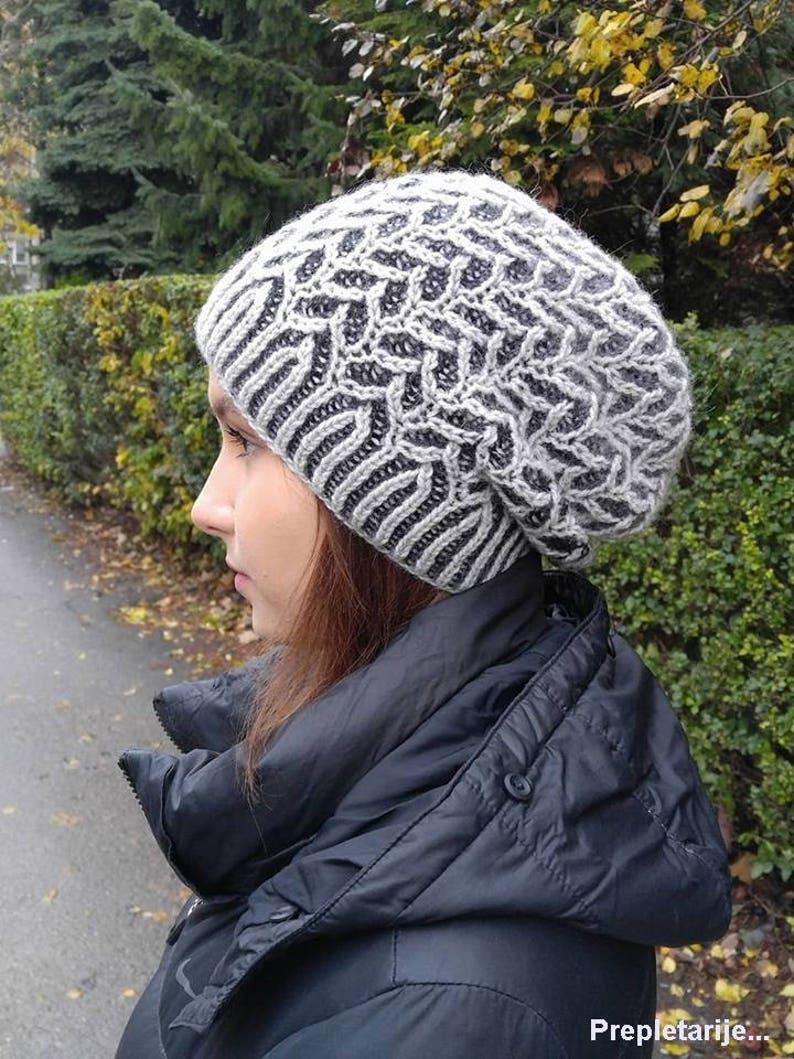 af651029d1c Brioche 2 color hat brioche PDF knit hat pattern hand knit