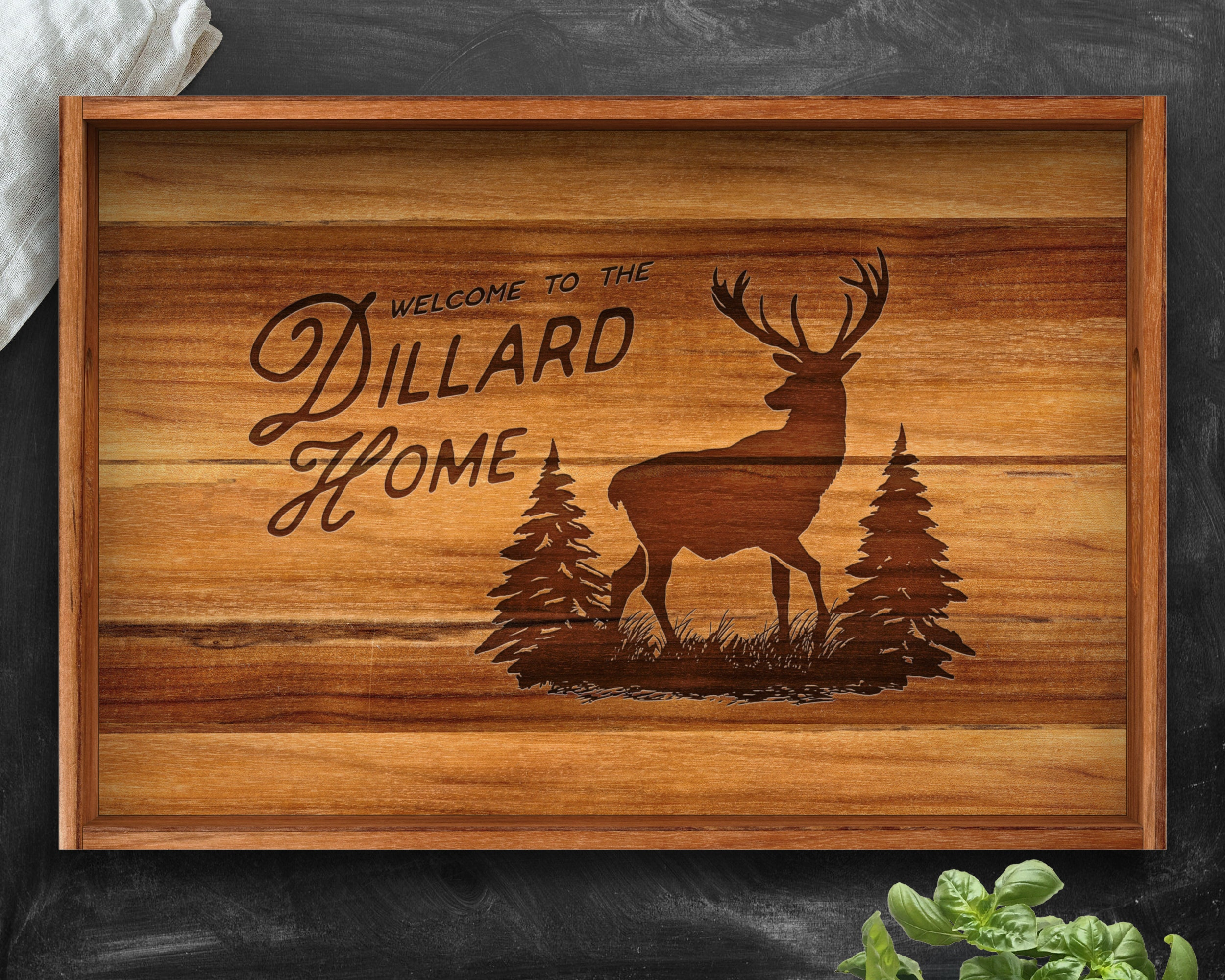 Gifts for Men, Teak, Serving Tray, Personalized Christmas Gifts ...