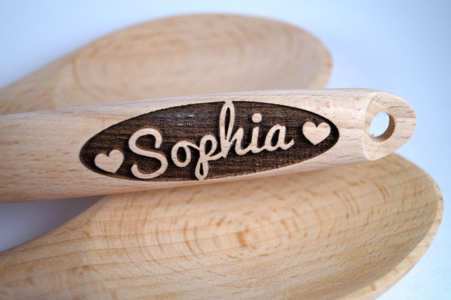 9d6a813329c38 Heart Gift, Anniversary Gift, Custom Wooden Spoon, Personalized ...