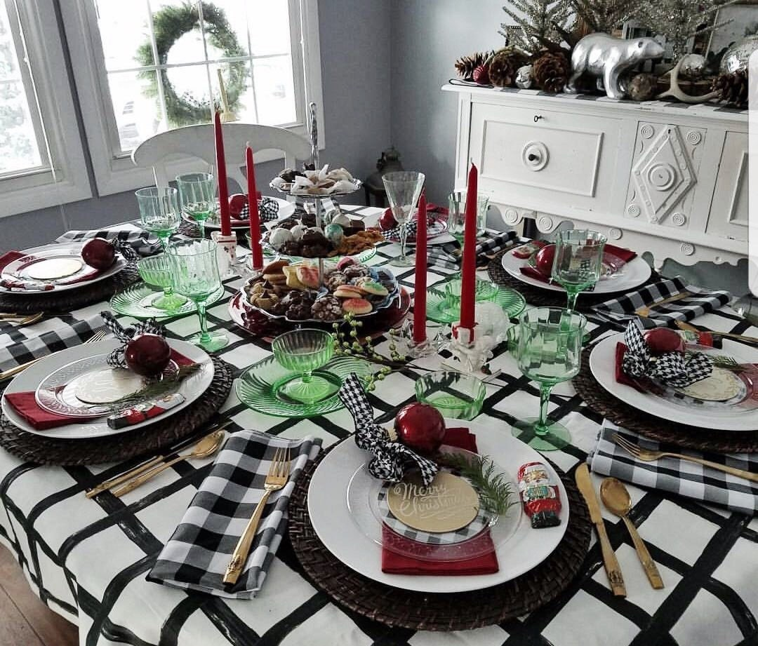 Windowpane Tablecloth Black And White Tablecloth Wedding Table