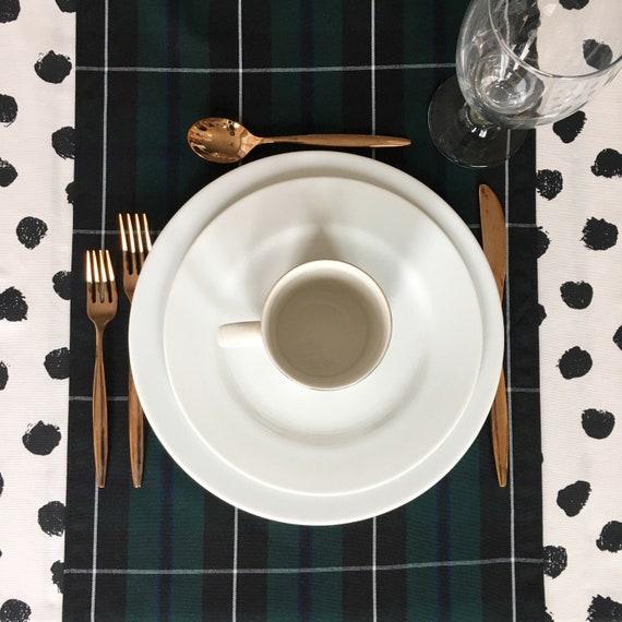 Forrest Green Tartan Plaid Table Runner | Christmas Table Runner, Christmas Plaid, Tartan Table Runner, Stewart Plaid