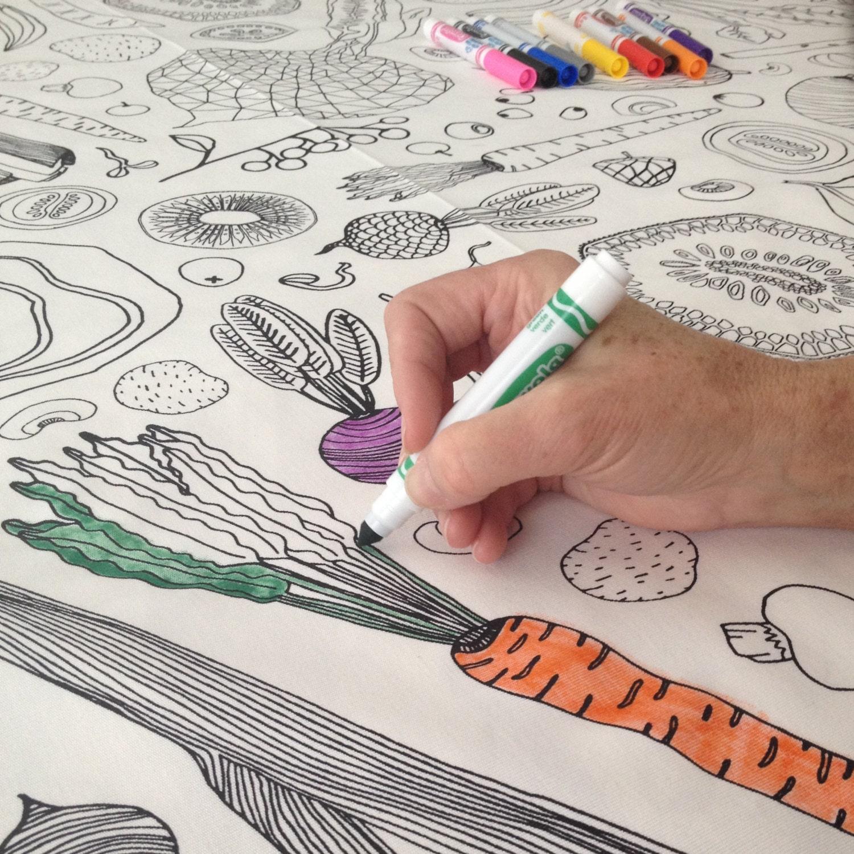 Download Coloring Book Tablecloth   Wedding Table Linens, Interactive Tablecloth, Coloring Book for ...