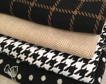Throw Blanket | Windowpane Throw Blanket, Bow Throw Blanket, Houndstooth Throw Blanket, Plaid Throw Blanket, Housewarming Gift, Hostess Gift