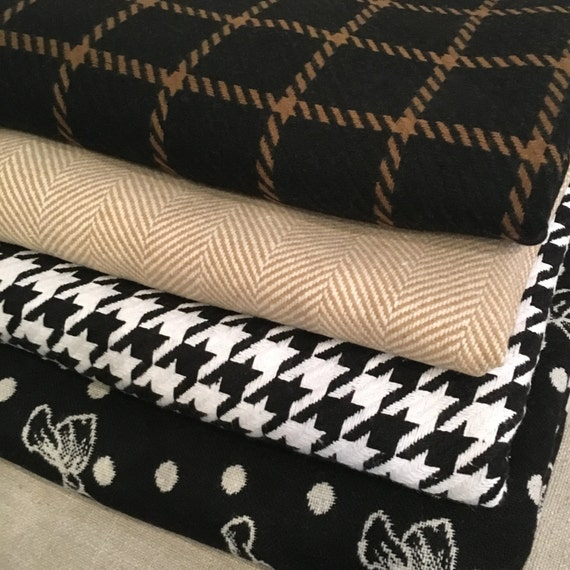 Throw Blanket | Windowpane Throw Blanket, Bow Throw Blanket, Houndstooth Throw Blanket, Plaid Throw Blanket, Housewarming Gift