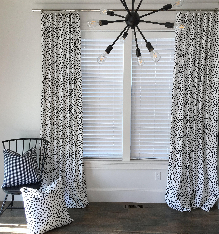 Black Vine Curtain Panel
