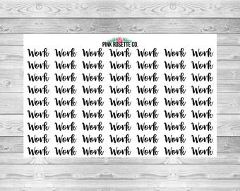 Work Text/Script Stickers for Erin Condren Life Planner!