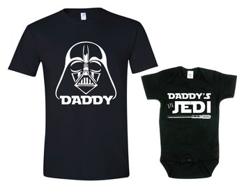 a05de541a Father s Day Shirt Set. Darth Daddy Shirt. Matching Father Son Shirt Sets