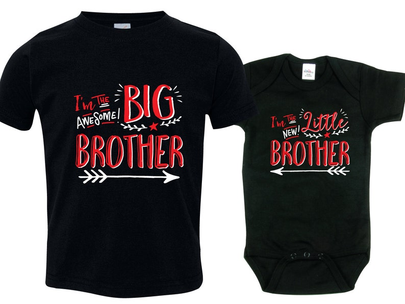 Big Brother Little Brother  Funny Matching Shirts Baby Gift image 0