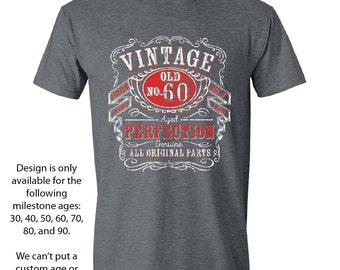 60th Birthday, 1956 Birthday, 60th Birthday Gift, Men's T Shirt, 60th Birthday Idea, 60th Birthday Party, Vintage Whiskey 60 Year Old