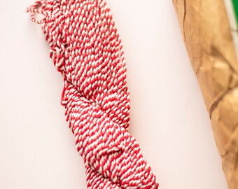 Jumbo Thick Red White Vintage Twine