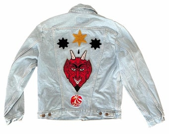 Wrangler denim jacket with dEvil