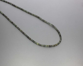 Songea Sapphire Micro Faceted Rondelle 2.5 mm AA Necklace for Women