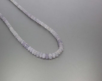 Lavender Quartz Faceted Rondelle Beads 3.5 to 7.5 mm AA Necklace for Women