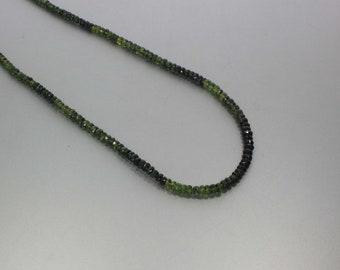 Chrome Tourmaline Faceted Rondelle Beads 3 to 4 mm AA