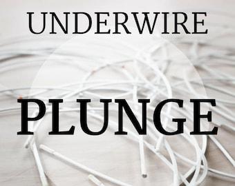 PLUNGE Bra-Underwires!! 1 Pair Sizes 32-48